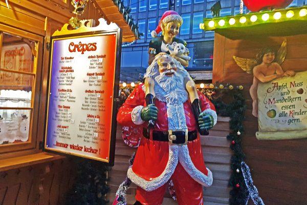 Das Foto zeigt einen Stand auf der Bochumer Weihnacht