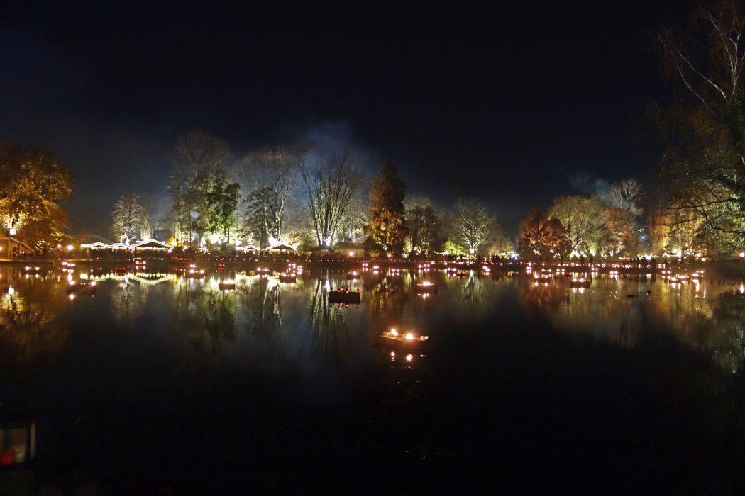 Das Bild zeigt den See im Fredenbaumpark