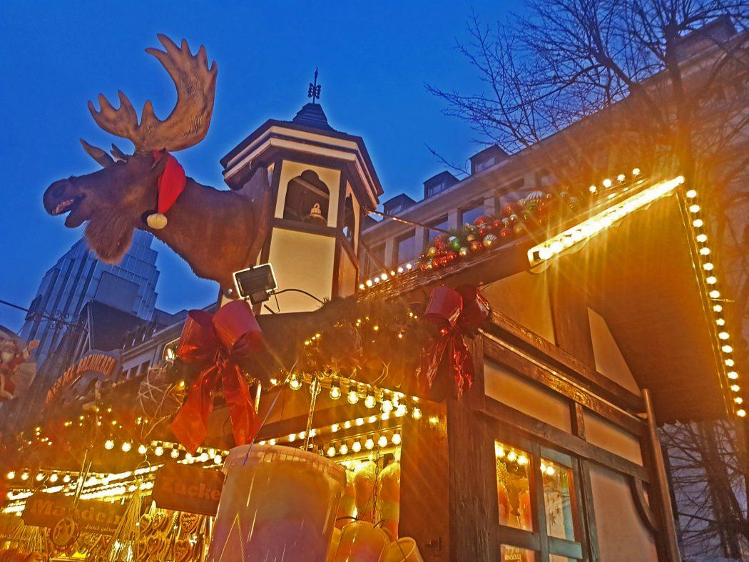 Das Bild zeigt einen Stand auf der Bochumer Weihnacht