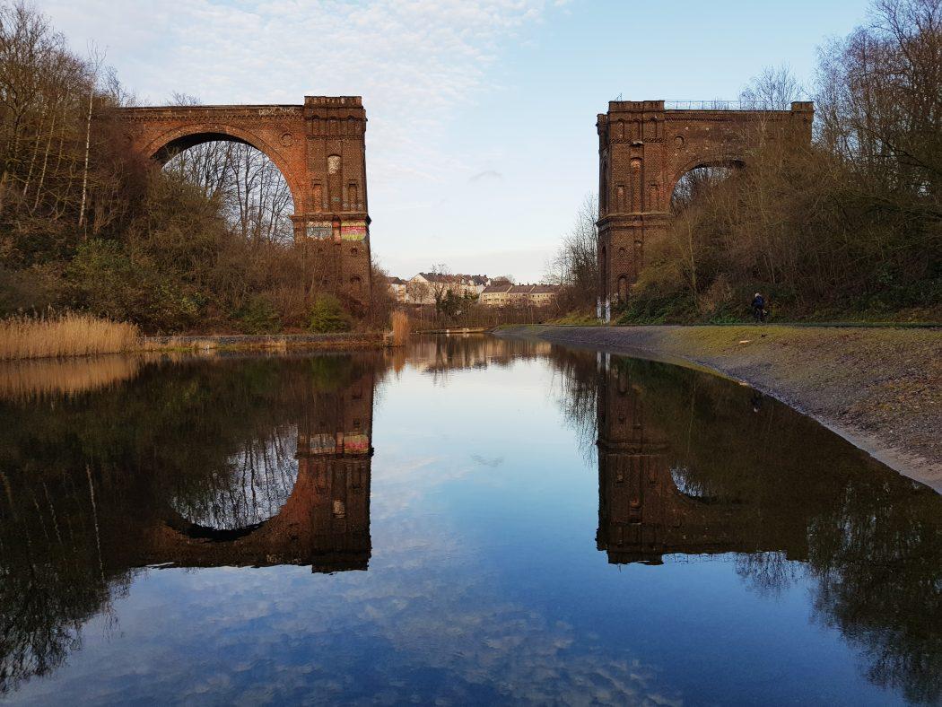 Das Bild zeigt das Viadukt in Hörde