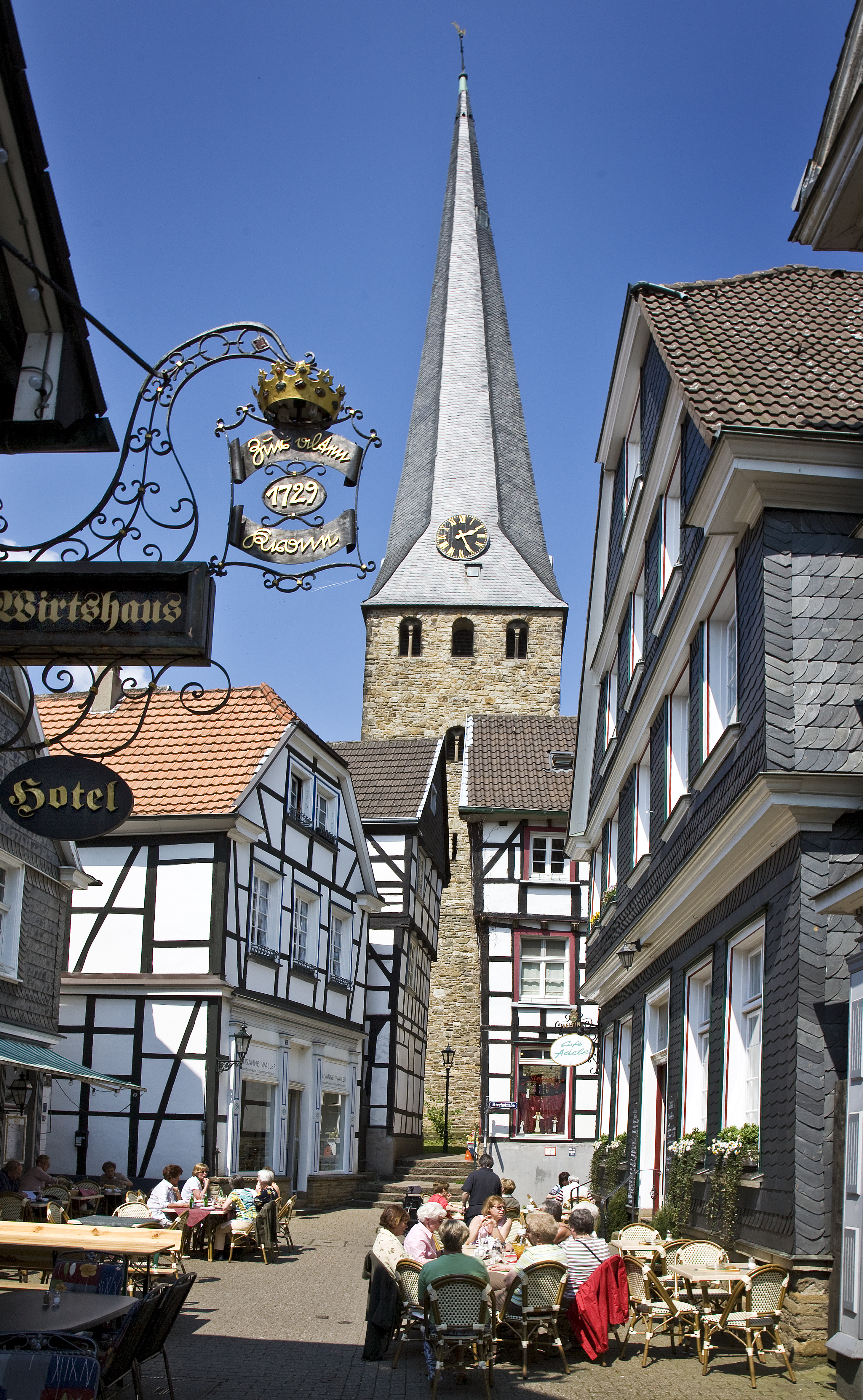 Das Bild zeigt die Altstadt von Hattingen