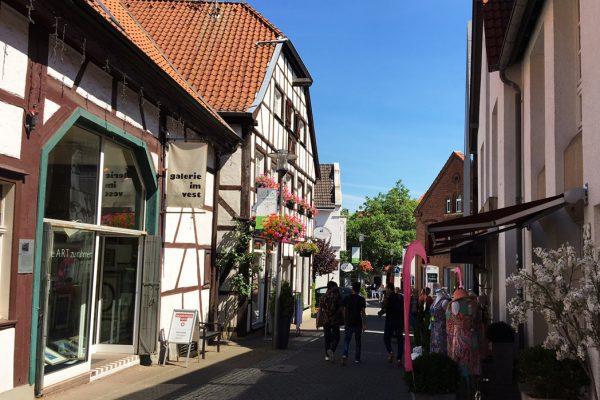 Das Bild zeigt die Altstadt von Recklinghausen