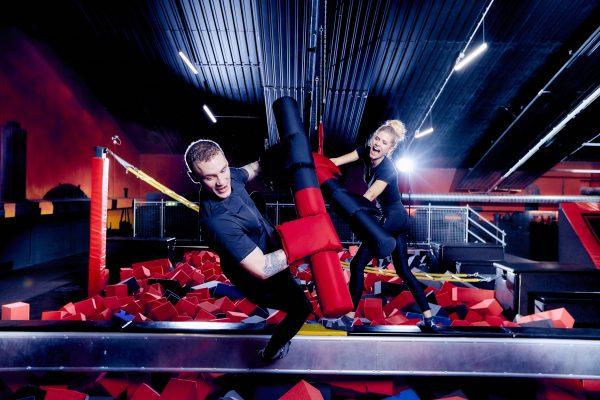 Das Foto zeigt die trampolinflächen der SUPERFLY AIR SPORTS