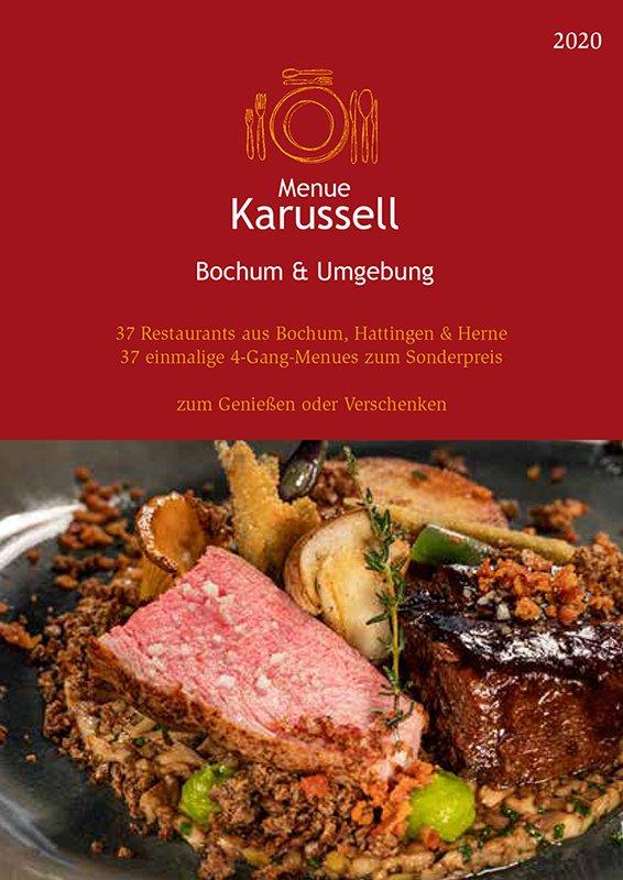Das Foto zeigt das Cover des Programmhefts des Menue-Karussells Bochum & Umgebung
