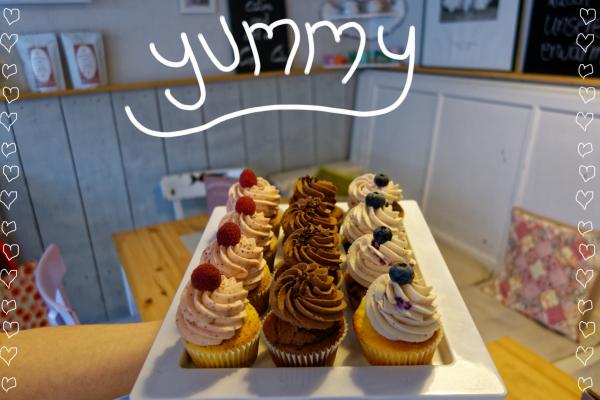 Das Bild zeigt Cupcakes in der Kleinen Zuckerbäckerei in Bochum