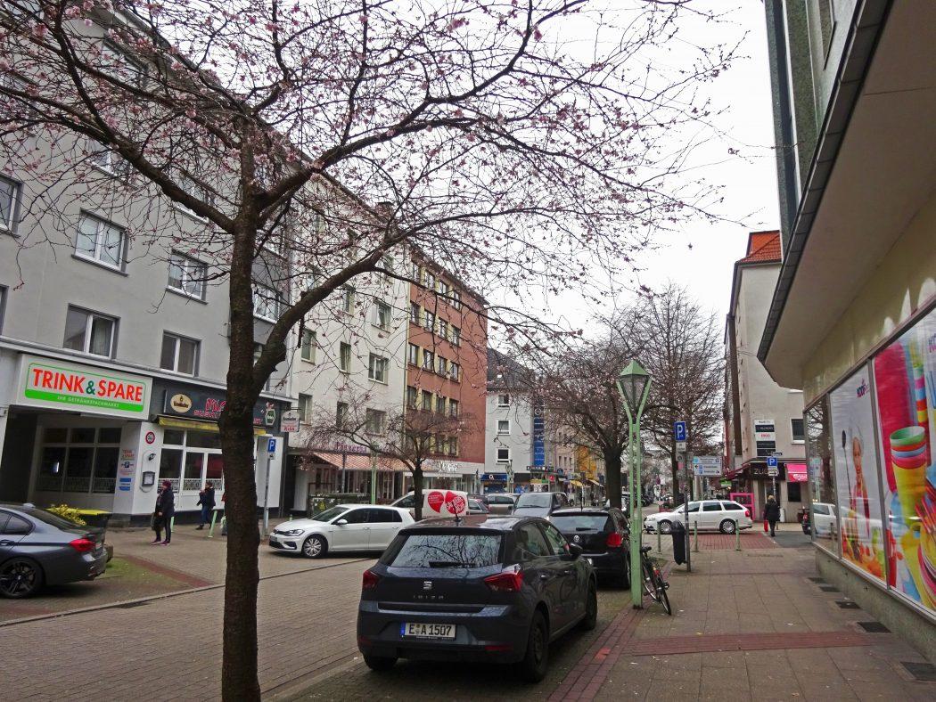 Das Bild zeigt die Rüttenscheider Straße