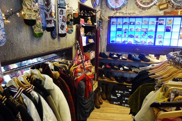 Das Bild zeigt ein Rockabilly-Geschäft