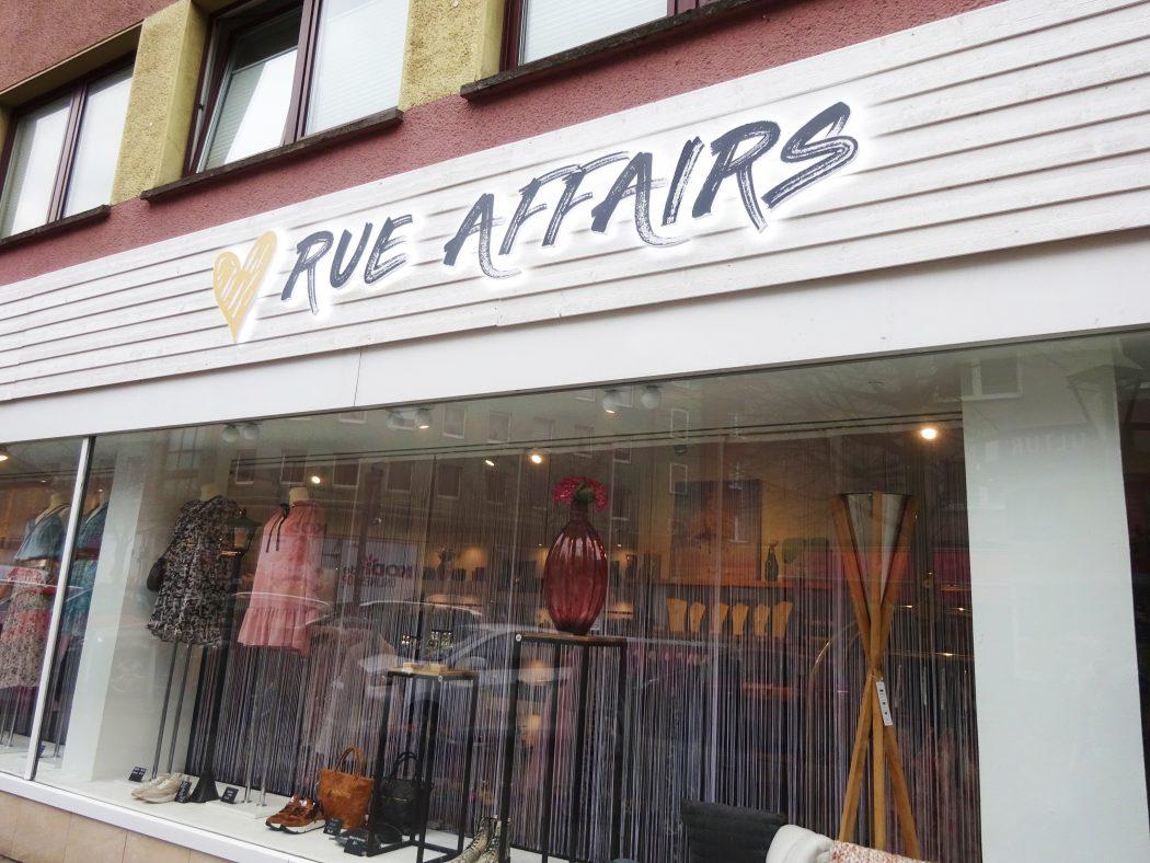 Das Bild zeigt das Geschäft Rue Affairs
