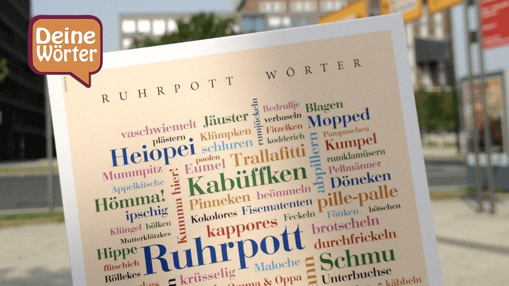 Ruhrpottdialekt für Zuhause - Poster mit Ruhrpottwörtern