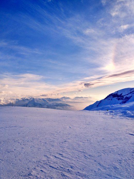 Das Foto zeigt die französischen Alpen