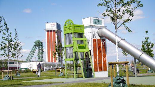 Das Bild zeigt den Spielplatz auf der Landesgartenschau Kamp-Lintfort