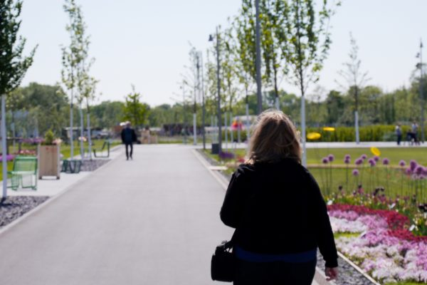 Das Bild zeigt das Gelände der Landesgartenschau Kamp-Lintfort