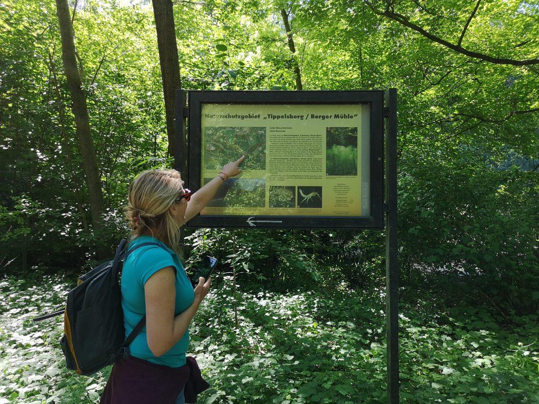 Das Bild zeigt Heike im Naturschutzgebiet Tippelsberg