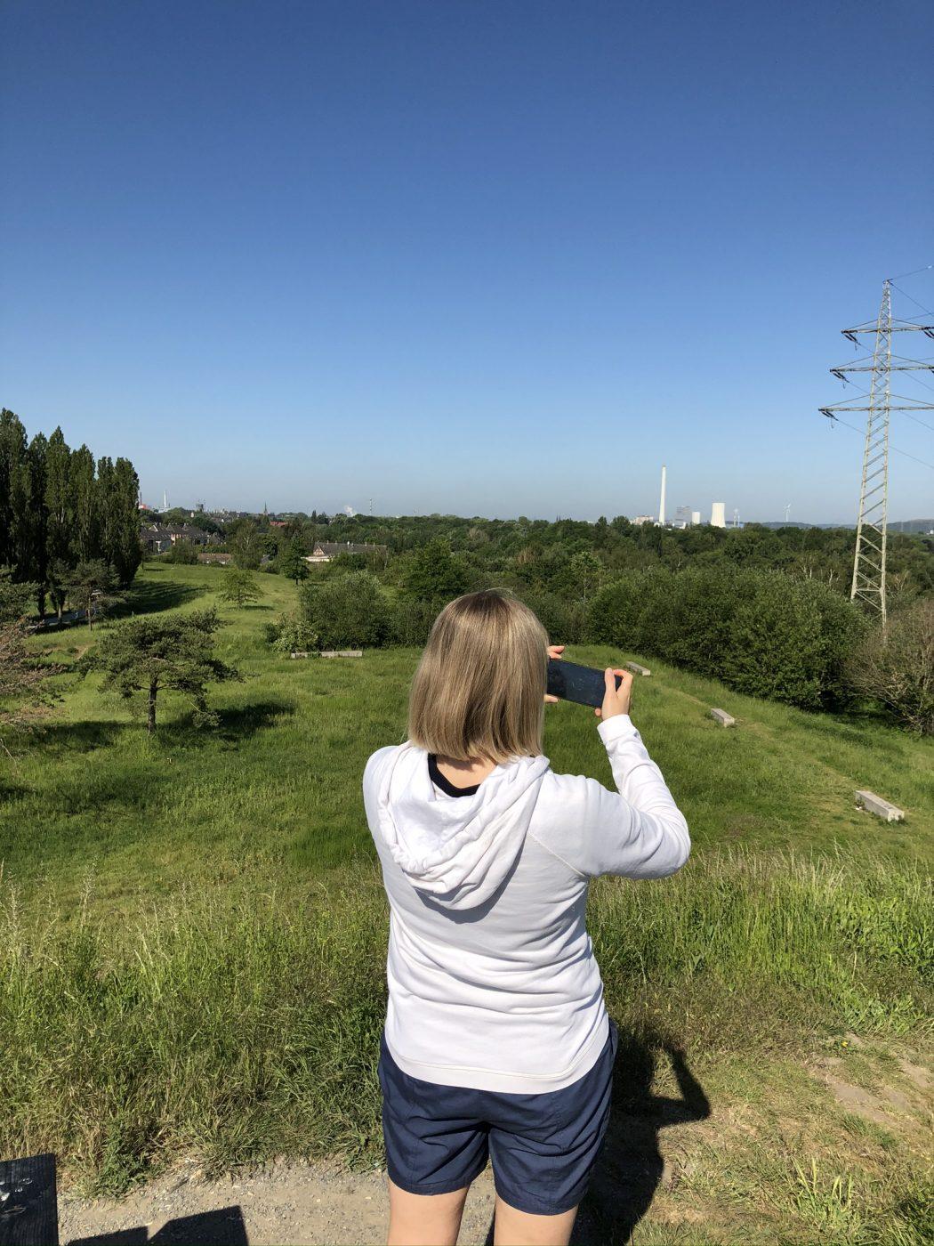 Das Bild zeigt den Aussichtspunkt an der Akademie Mont-Cenis