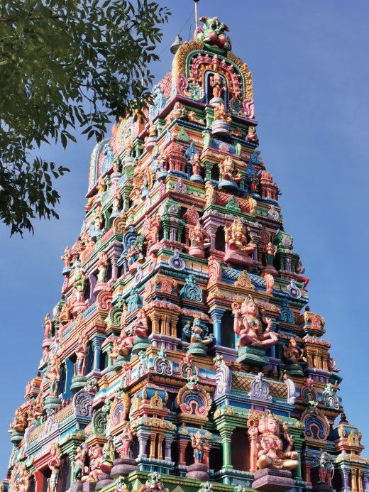 Das Foto zeigt den wunderschönen Hindutempel in Hamm
