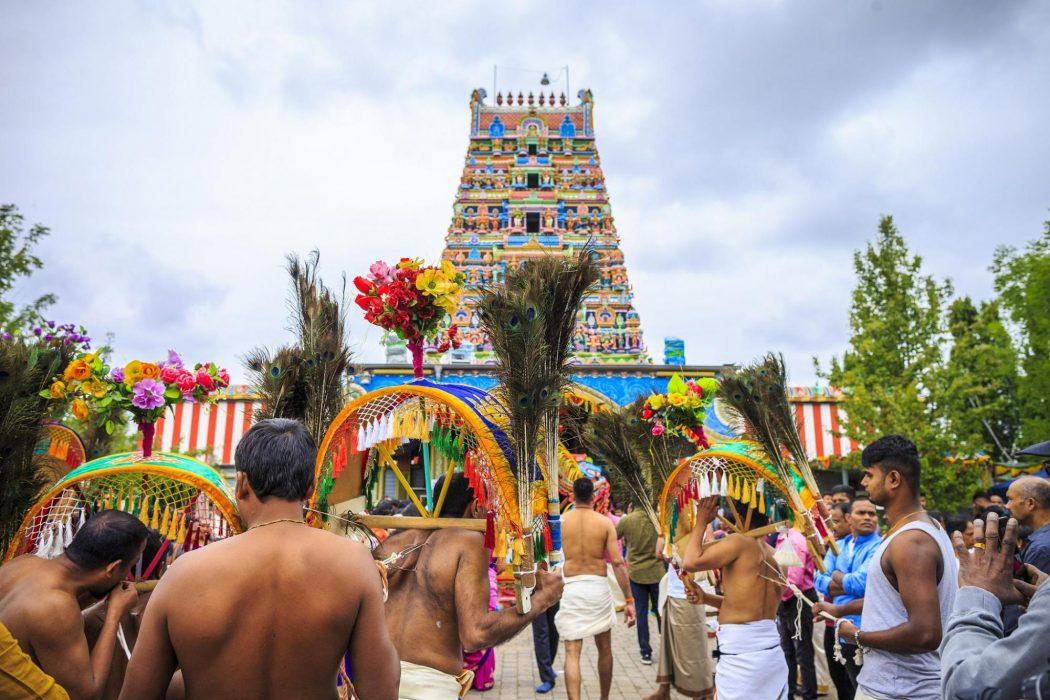 Das Foto zeigt das berühmte Hindu-Tempelfest in Hamm
