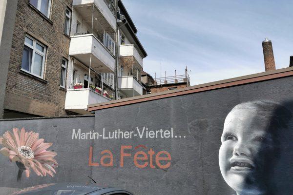 Das Foto zeigt das Künstlerviertel Hamms rund um die Martin-Luther-Straße