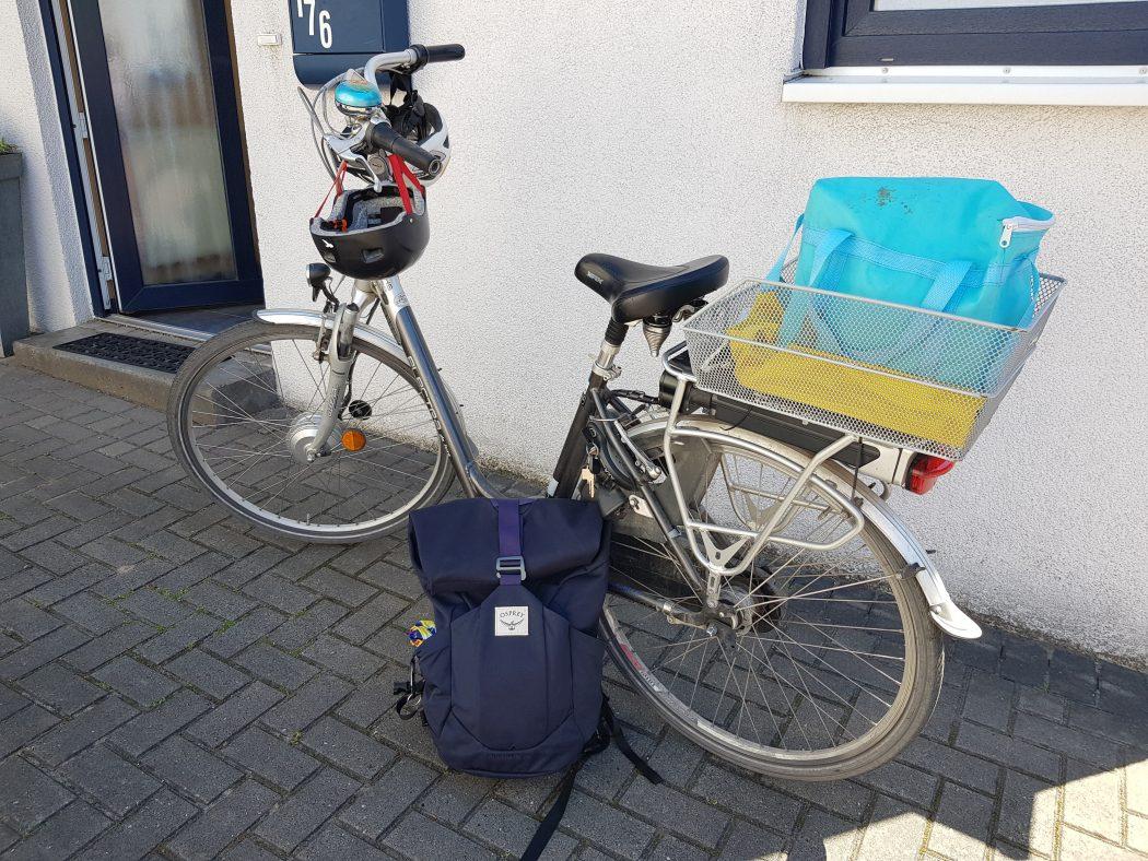 Das Foto zeigt ein E-Bike in Dinslaken