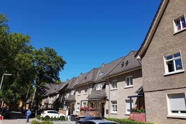 Das Foto zeigt die Siedlungs Lohberg in Dinslaken
