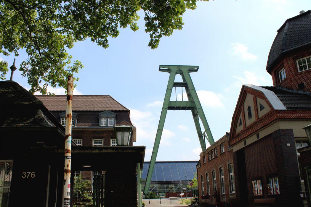 """Das Foto zeigt den """"Haupteingang"""" zum Kreativ.Quatier Lohberg in Dinslaken"""