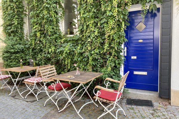 Das Foto zeigt den Außenbereich des Komma Essen in Essen-Werden