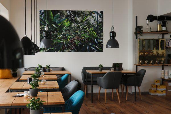 Das Foto zeigt den Innenraum des Café Kijami in Witten