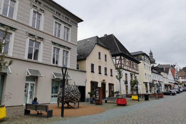 Das Foto zeigt den historischen Stadtkern von Arnsberg...