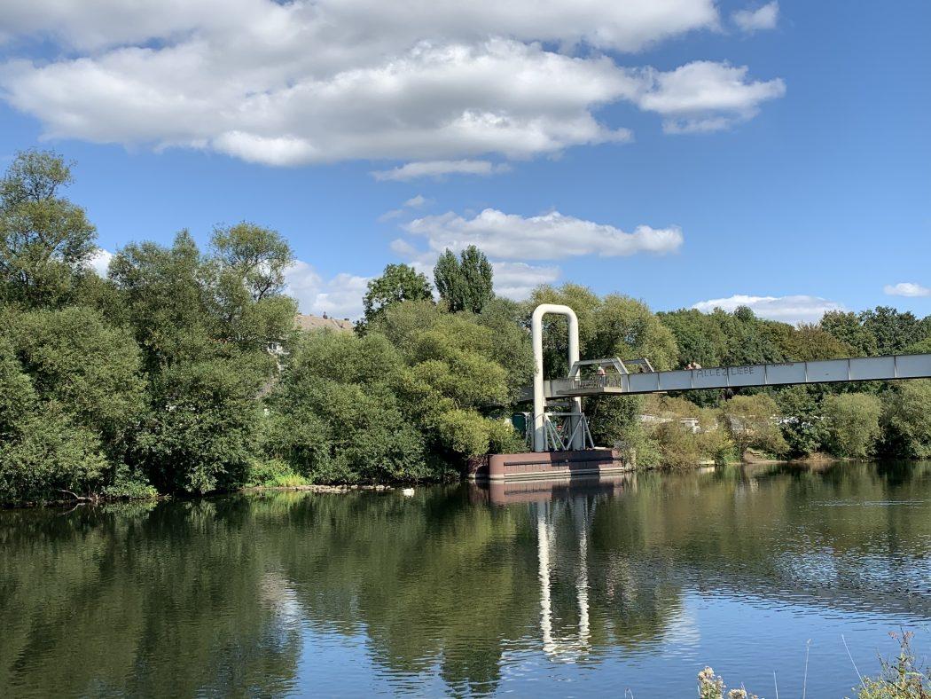 Das Foto zeigt eine Brücke in Essen Steele