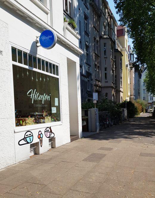 Das Foto zeigt das Hitzefrei mitten im Dortmunder Kreuzviertel