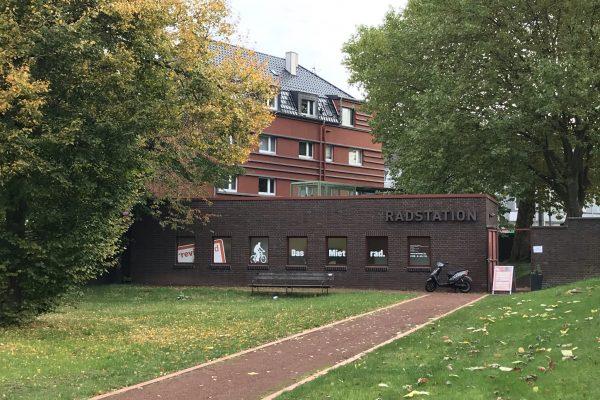 Das Foto zeigt die RevierRad Station auf Zollverein