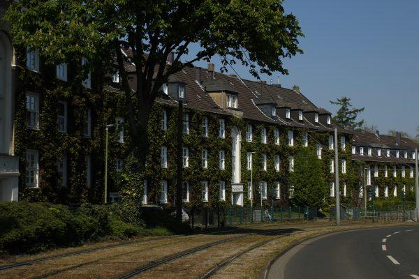 Das Bild zeigt die Gartenstadt Margarethenhöhe in Essen
