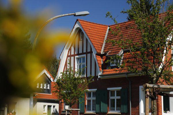Das Bild zeigt die Zechensiedlung Teutoburgia in Herne