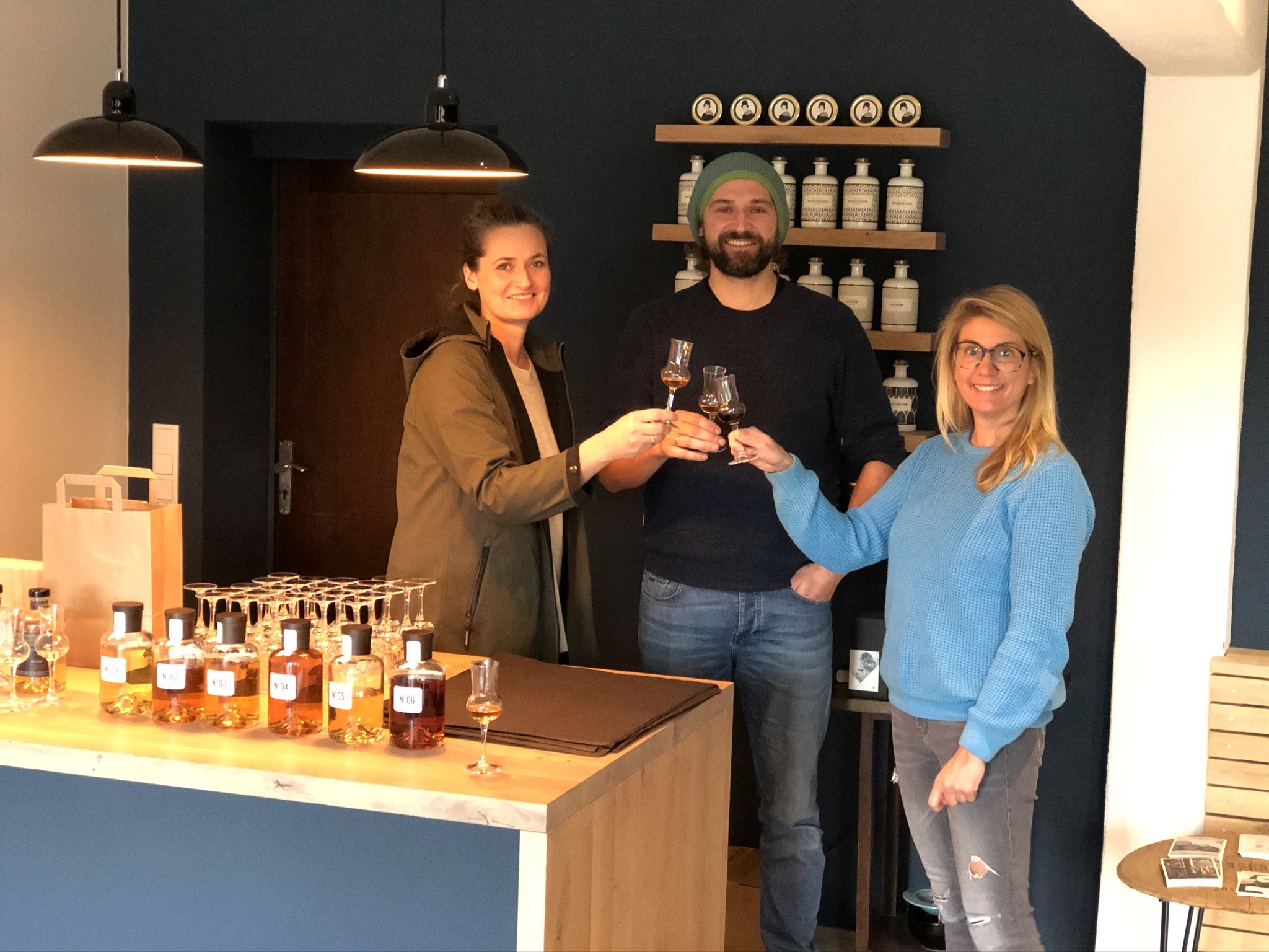 Verkostung der Spirituosen in der Brennerei Ehringhausen