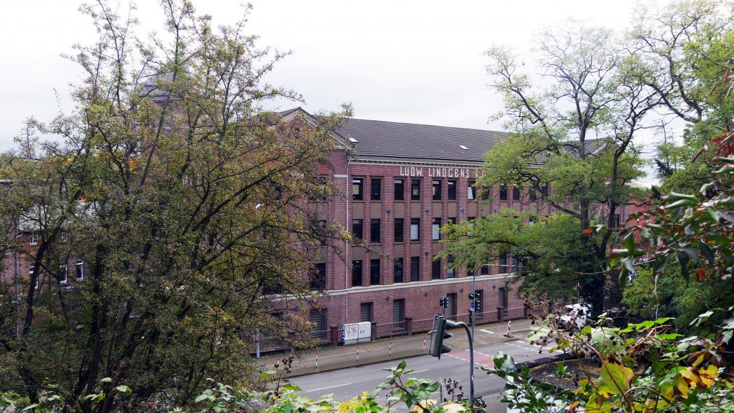 Das Foto zeigt die Lederfabrik Lindgens in Duisburg