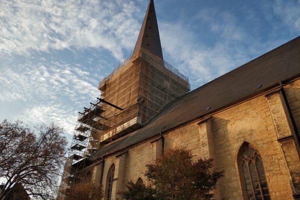 Das Foto zeigt die Stadtkirche in der Altstadt von Unna