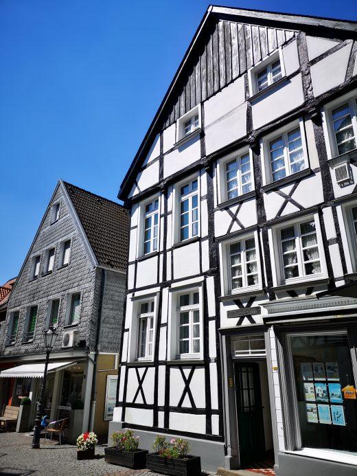 Das Foto zeigt die historische Altstadt von Essen-Werden