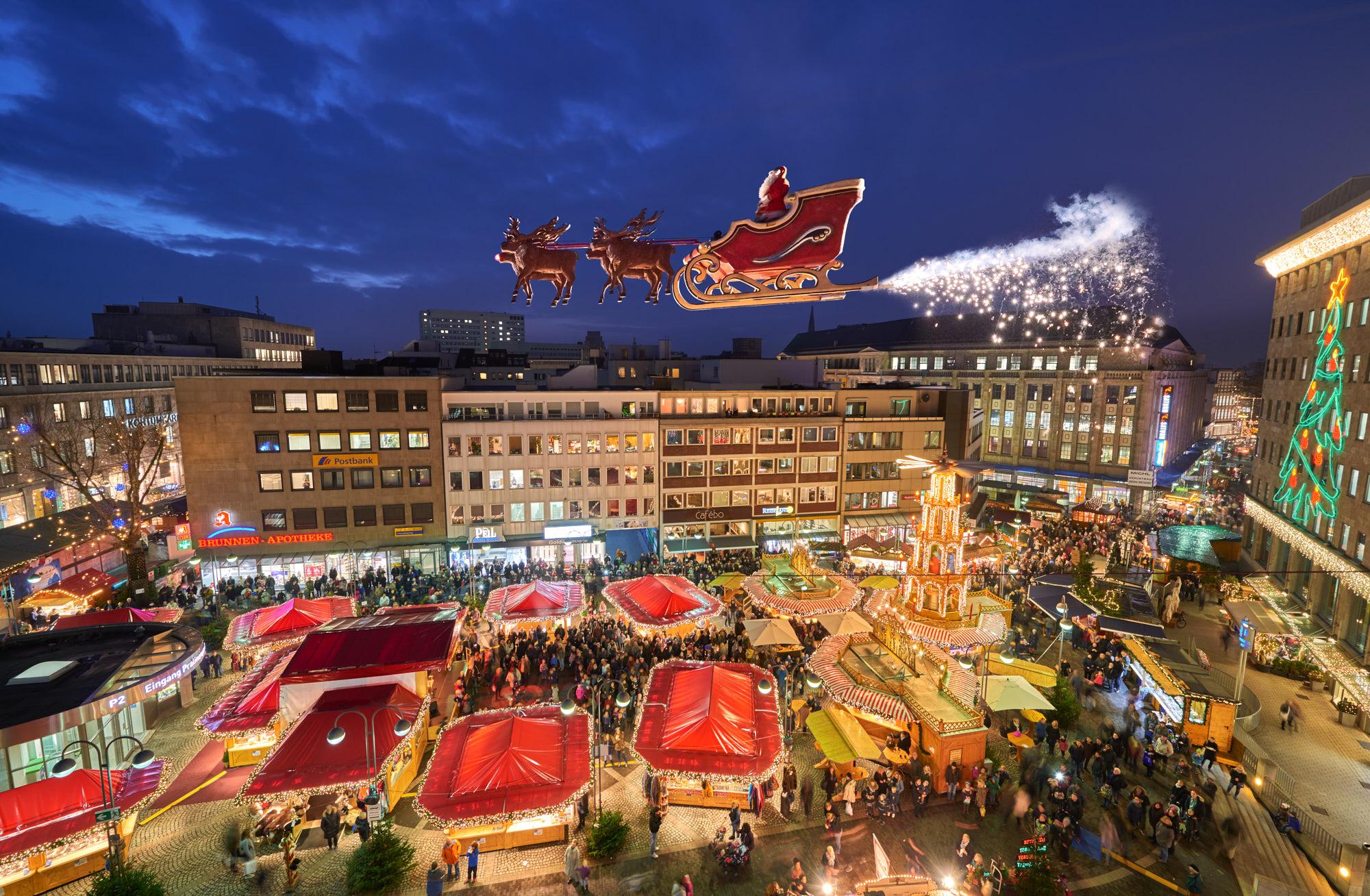 Das Bild zeigt den Weihnachtsmarkt in Bochum