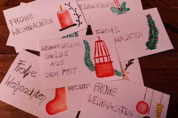 Das Bild zeigt Weihnachtskarten
