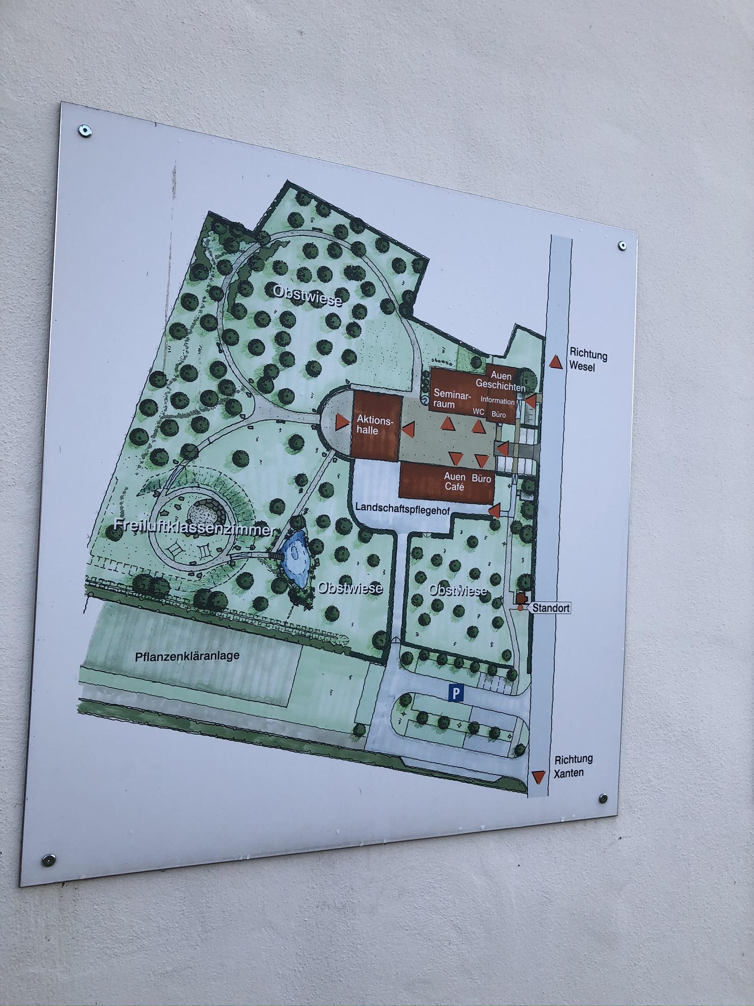 Übersichtskarte des RVR Naturform Bislicher Insel in Xanten im Ruhrgebiet