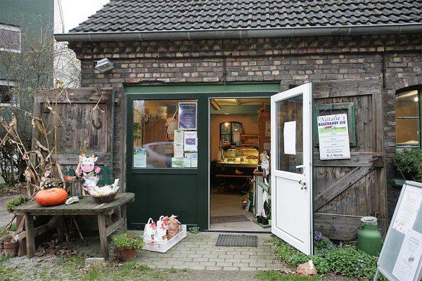 Das Foto zeigt den Hofladen des Tinthofs in Voerde