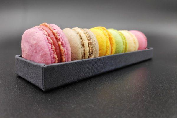 Das Foto zeigt Macarons der Confiserie Harmonie