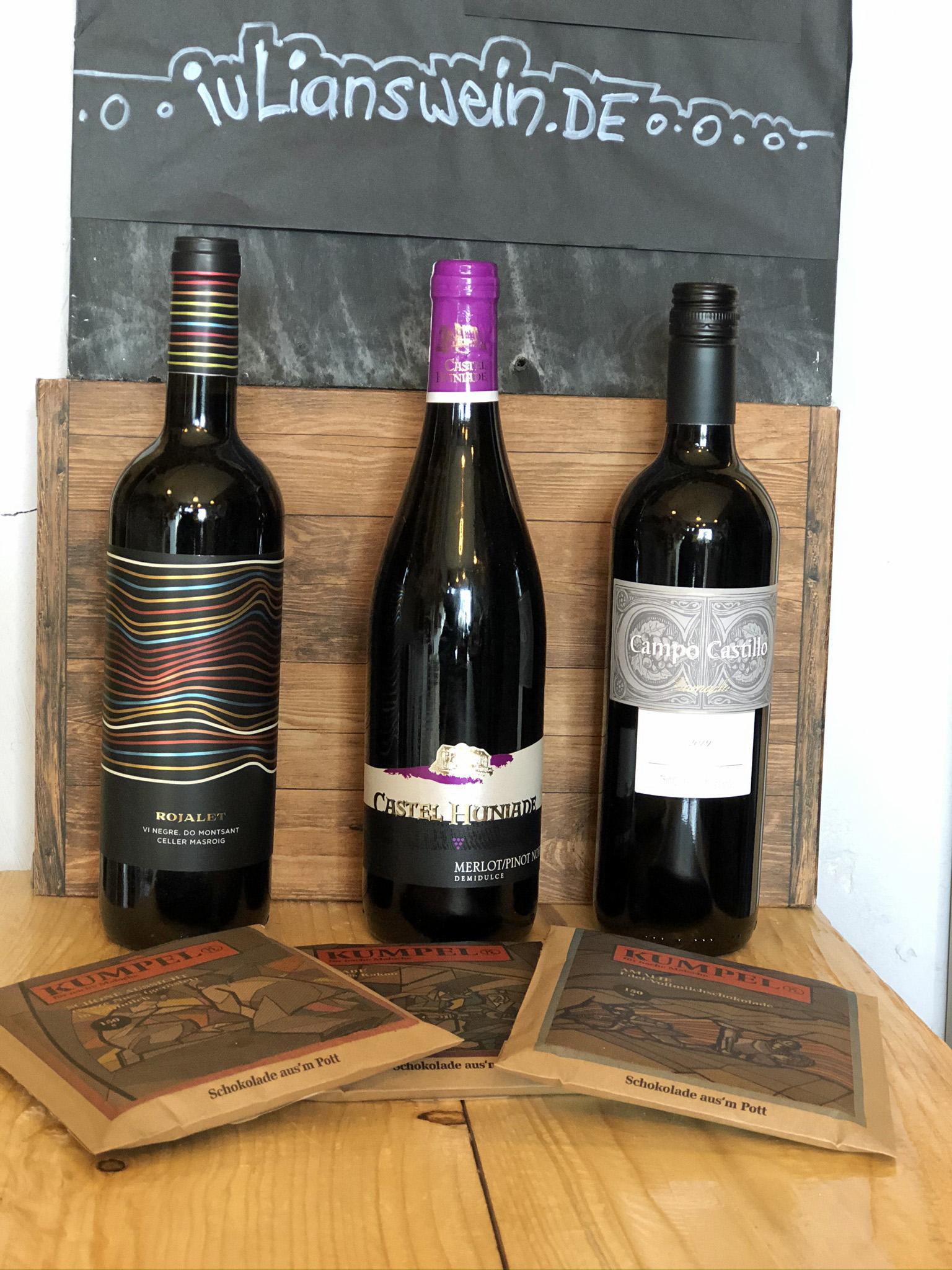 Verkostungspaket Wein und Kumpelschokolade