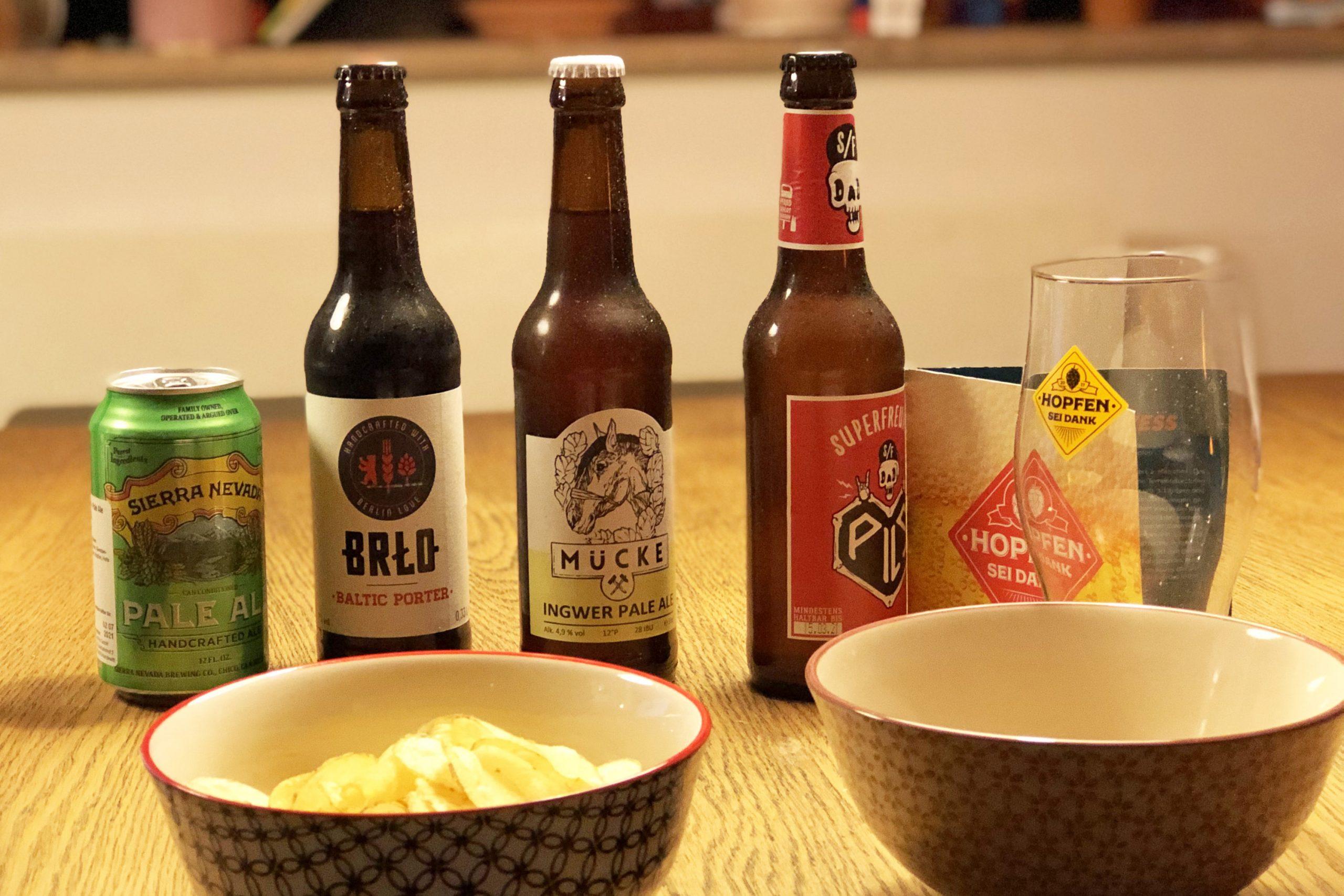 Bier und Chips eine tolle Kombination