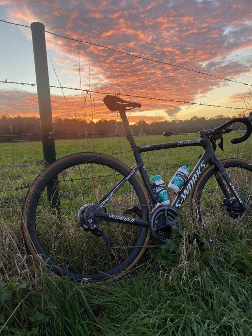 Das Foto zeigt das Gravel-Bike von Radprofi Ben Zwiehoff