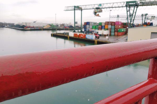 Das Foto zeigt den Dortmunder Hafen