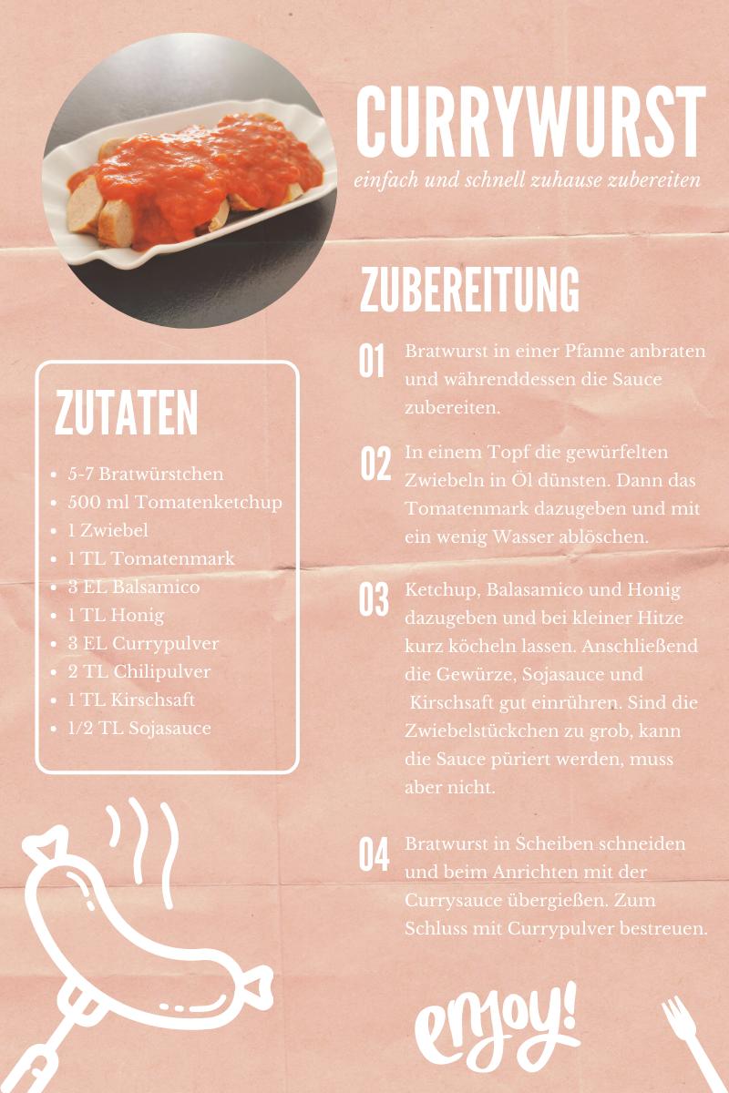 Currywurst Rezept zum Nachkochen