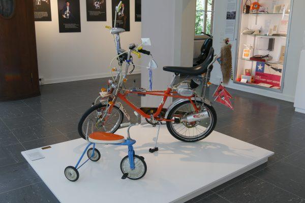 Das Foto zeigt ein Bonanza-Rad mit Bananensattel im Heimatmusem Unser Fritz in Herne