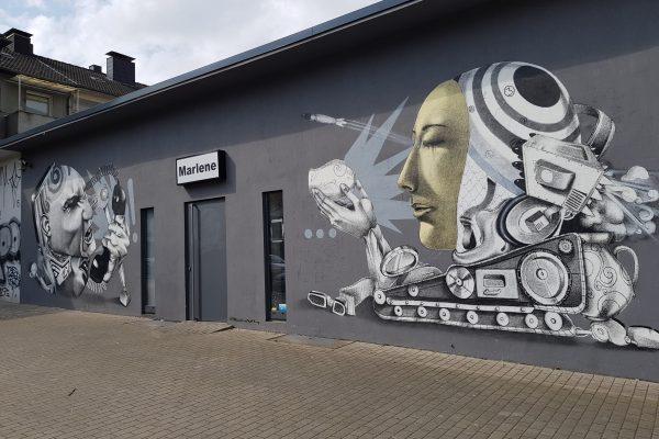 Das Foto zeigt Streetart in Dortmund