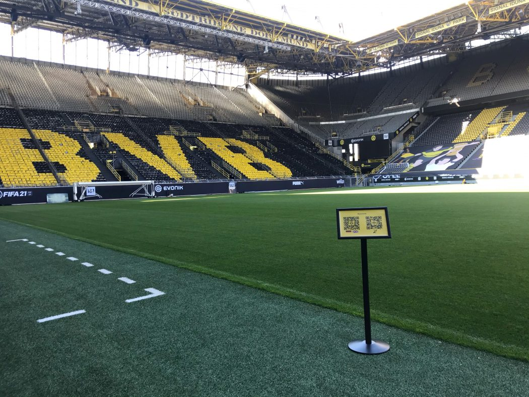 Das Foto zeigt das Stadion des BVB von Innen