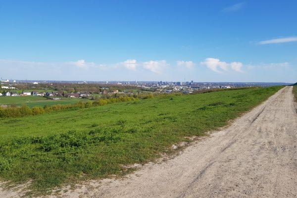 Das Foto zeigt die Aussicht vom Deusenberg in Dortmund